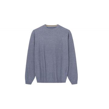 Men's Knitted Textured Oversize Crew-Neck Pullover