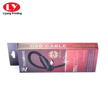USB cable hanging packaging box