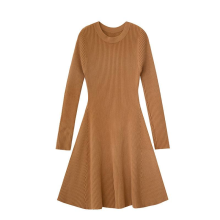 Women's Clothing Fashion Knit Long Sleeve Dress