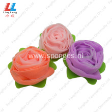 Rose Flower meshes Sponge exfoliating bath sponge