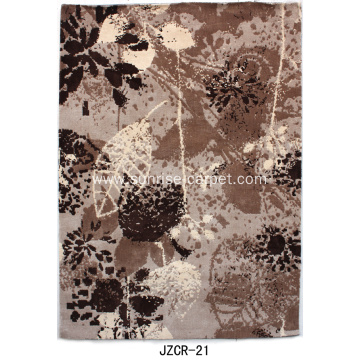 Microfiber area rug with wash drawing design