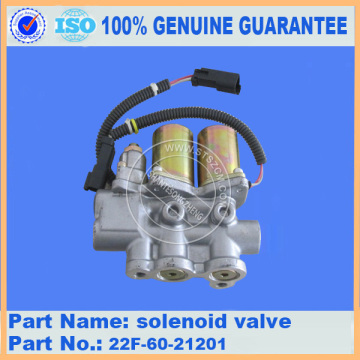 Komatsu spare parts PC50MR-2 solenoid valve 22F-60-21201 for electric parts