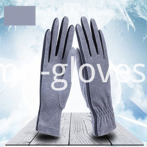 Fleece Gloves Grey