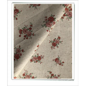 linen cottton mix print fabric for dress