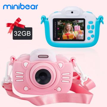 Minibear Children Camera For Kids Digital Camera For Children 1080P HD Video Camera Toy For Children Birthday Gift For Girl Boys
