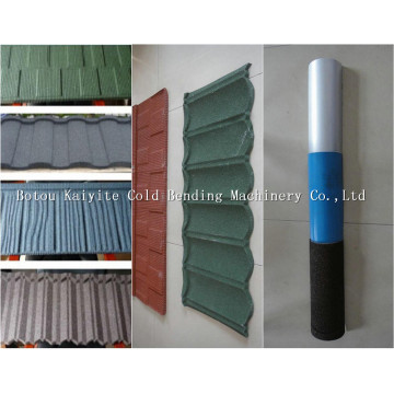 Colorful Metal Vermiculite Roof Tile Product Line