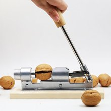 Good Heavy Duty Pecan Nut Cracker Tool , Wood Base & Handle Fast Opener Kitchen Tools Fruits And Vegetables Best P