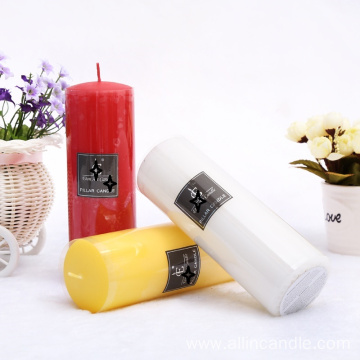 flameless multi size colorful scented pillar candle