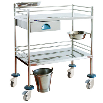 Hospital Stainless Steel Easy-optional Nursing Trolley