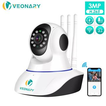 VEONARY AI 1536P 1080P Wifi Wireless IP Security Camera Home Surveillance Two-way Audio CCTV 3MP 2MP Baby Monitor Pets P2P Cloud