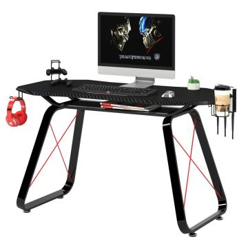 Gaming Table with Carbon Fiber MDF Desktop Frame
