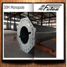 14M Galvanized Round Taper Steel Pole