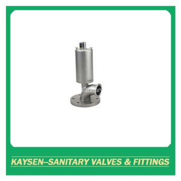 Sanitary flange pneumatic tank bottom valve