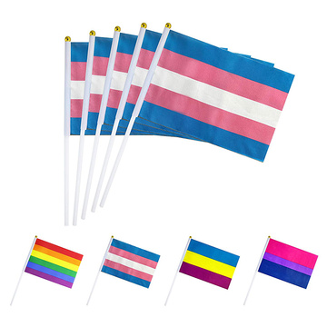Hot Selling LGBT Printed Polyester Pride hand Flags