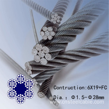 316 6x19+FC Dia.1.5 to 18mm Stainless Steel Cable