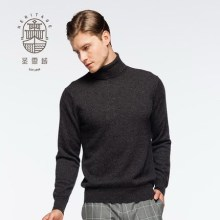 Men's turtle neck pure cashmere sweater