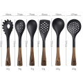 heat-resistant plastic kitchen accessories wooden utensils