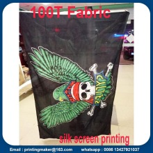 Polyester Fabric Advertising Flags with Screen Printing