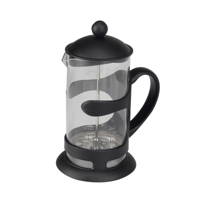 Black Frame Glass Coffee Maker