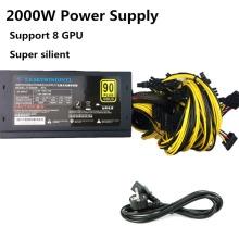 2000W Mining Power Supply Asic bitcoin new Gold power 2000W PLUS ETH power supply ATX Mining Machine support 8 GPU cards PSU ATX