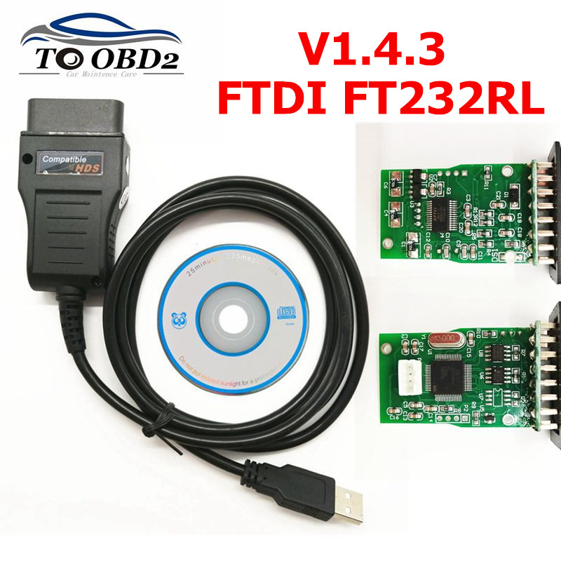 High quality For Honda HDS USB Cable Diagnostic Cable Software Version V1.4.3 FTDI FT232RL Chip Auto OBD2 HDS Cable