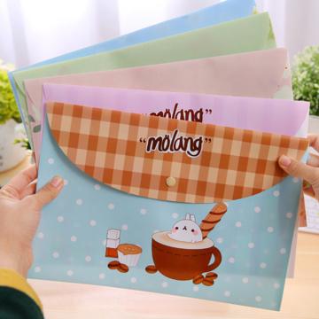 1 Pc Creative Fresh Potatoes Paper Bag PVC Materials File Bag Cute Document Bags Office and School Supplies File Folder