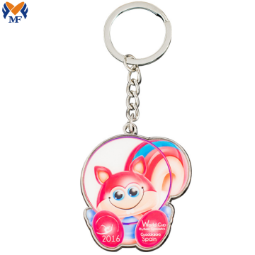 Metal Craft Custom Printing T Shirt Keychain