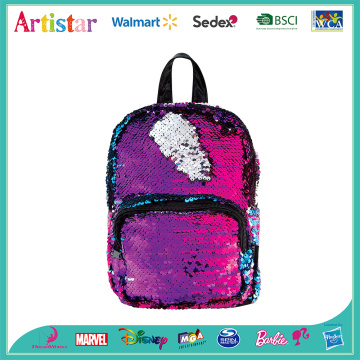 rainbow color sequins backpack