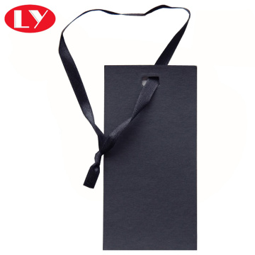 Black color gargments hangtag paper tag