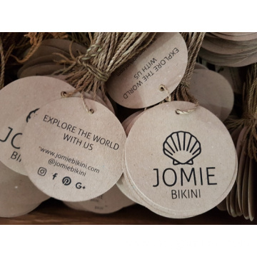 Recycle paper hand tags