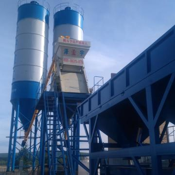 Mini mix ready-mixed HZS35 precast concrete batching plant