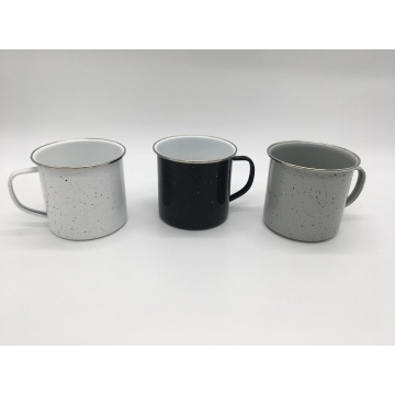 White Grey Black Coffee Cup with Speckled