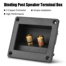 Acoustic Components for HiFi Speaker 2 Copper Binding Post Terminal Cable Connector Box Shell Acoustic Components