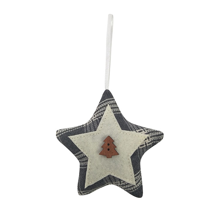 Christmas 3d Star Shape Tree Pendant 02