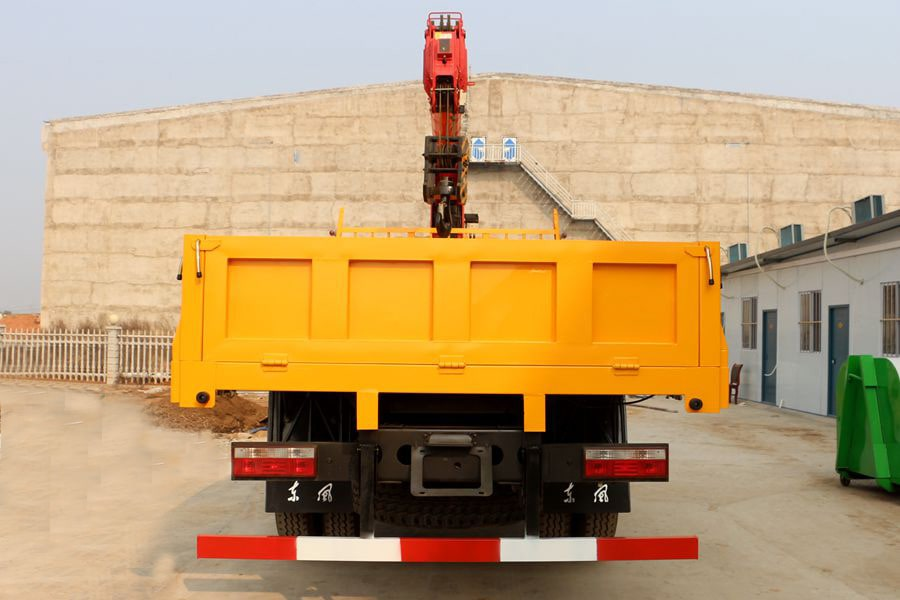 truck cargo with loader crane 5