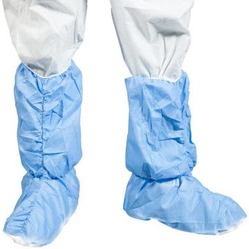 Blue Waterproof Disprosable Anti Skid Shoe Covers