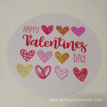 Weatherproof circle shaped magnet custom sticker