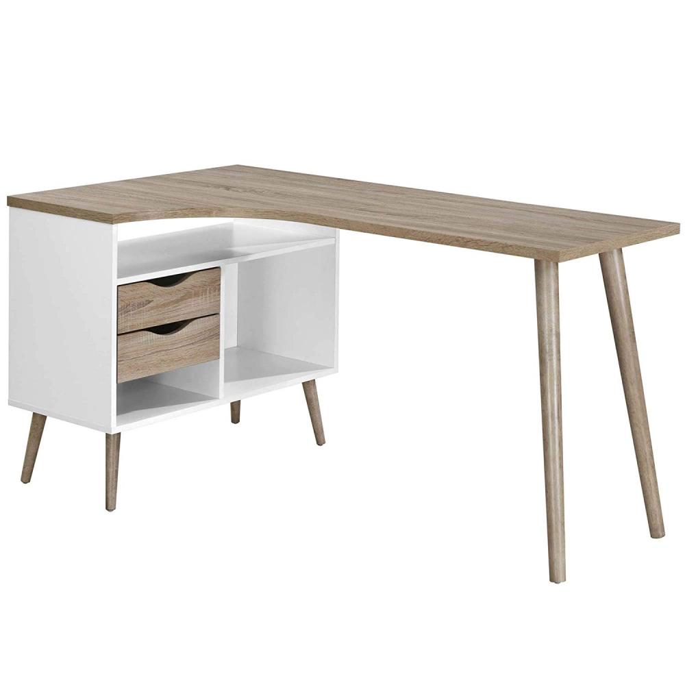 Amazon Hot Selling Office Design Desktop Computer Table with Bookshelf