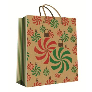 CHRISTMAS SERIES KRAFT GIFTBAG24-0