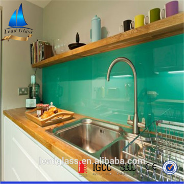 Toughened Back Painted Glass Panel Backsplash