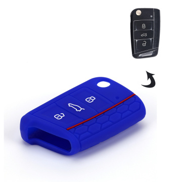 silicone embossed car key cover