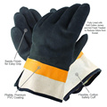 Black and Yellow Colour PVC Gloves