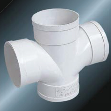 Bs5255/4514 Drainage Upvc Cross Grey Color