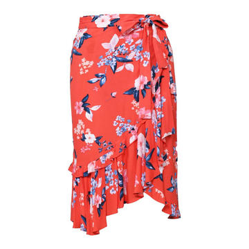 Women's Sexy Floral High Waist Ruffled Skirt