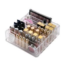 Plastic PS Makeup Organizer CC Cream Storage Box Clarity Cosmetic Makeup Holder Vanity Cabinet Powder Display Shelf Escritorio