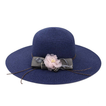 Floppy summer hat straw braid beach straw hat