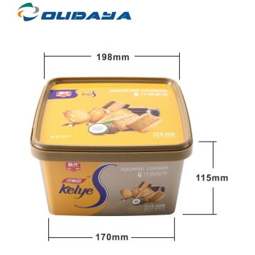 square container for biscuit