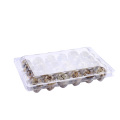 Clear clamshell plastic blister quail egg tray