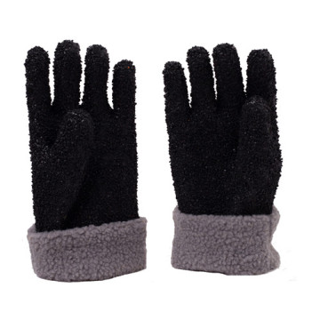 Black  All the particles PVC gloves
