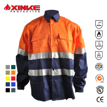 sleeve Fireproof Flame Retardant Welding Shirts